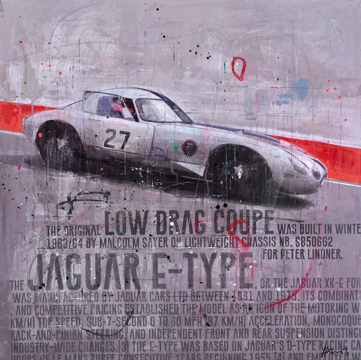 Jaguar E-Type II by markus haub -  sized 39x39 inches. Available from Whitewall Galleries